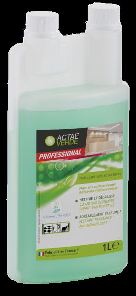 Actae Verde Professional - ökologischer Boden und Flächenreiniger Konzentrat, 1 Liter Dosierflasche