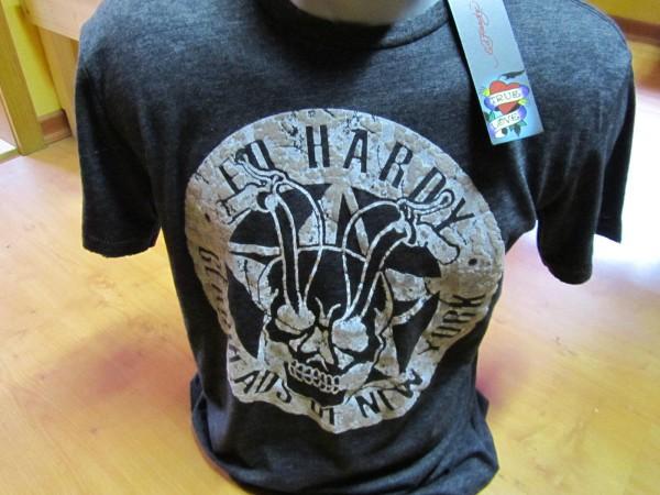 Ed Hardy T-Shirt Men black Skull rider Gr. XL