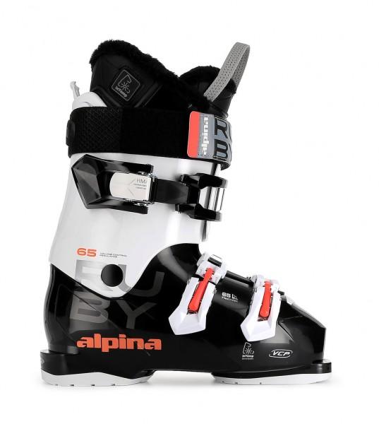 ALPINA beheizte Skistiefel Frauen, Allmountain Women Ruby 65 Heat, Skistiefel mit integrierter Heizu