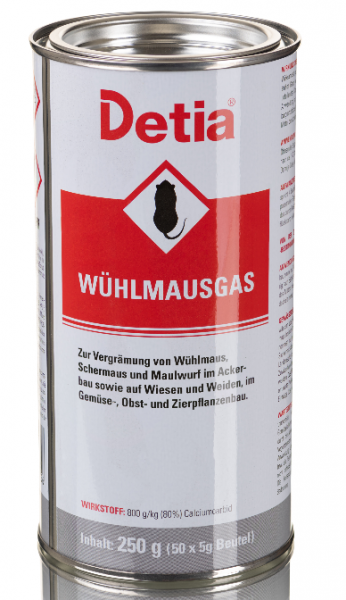 Detia Wühlmausgas / ARVALIN® CARB, 250 g Dose (50 x 5 g)