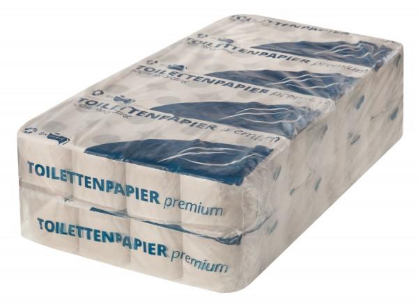 Toilettenpapier Premium, 2-lagig, natur, 64 Rollen (8x8) im Pack