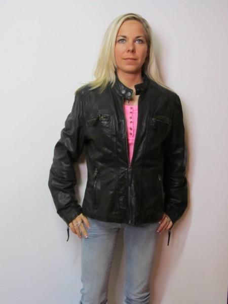 Oakwood Frauen Lederjacke Golden Label, noire, Gr. S