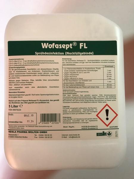 Wofasept FL Sprühdesinfektion, Flächendesinfektion (Nachfüllgebinde), 5 Liter